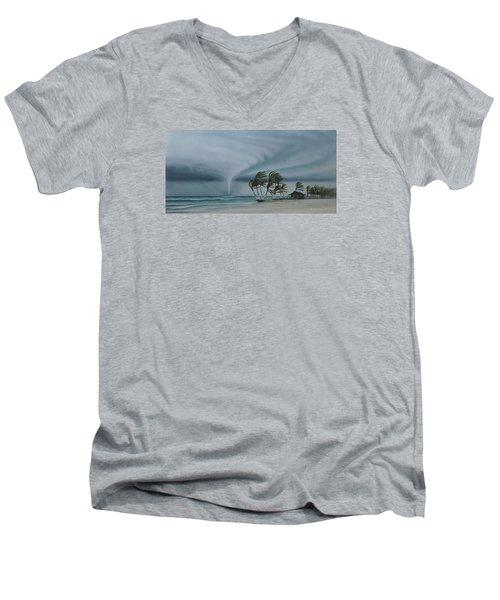 Mahahual Men's V-Neck T-Shirt by Angel Ortiz