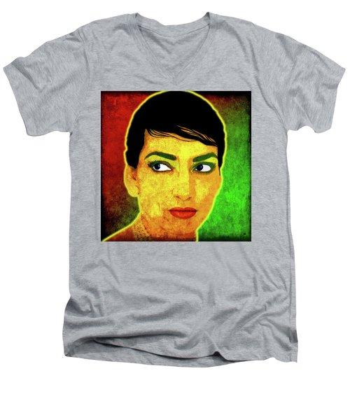 Maria Callas Men's V-Neck T-Shirt