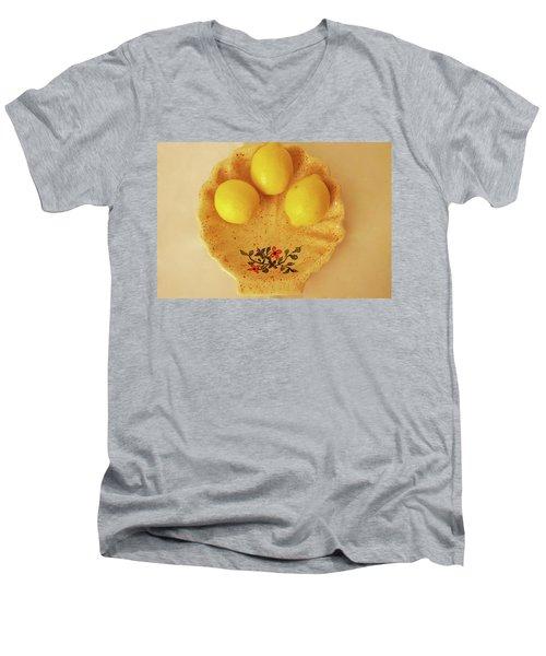 Men's V-Neck T-Shirt featuring the photograph Medium Shell Plate by Itzhak Richter