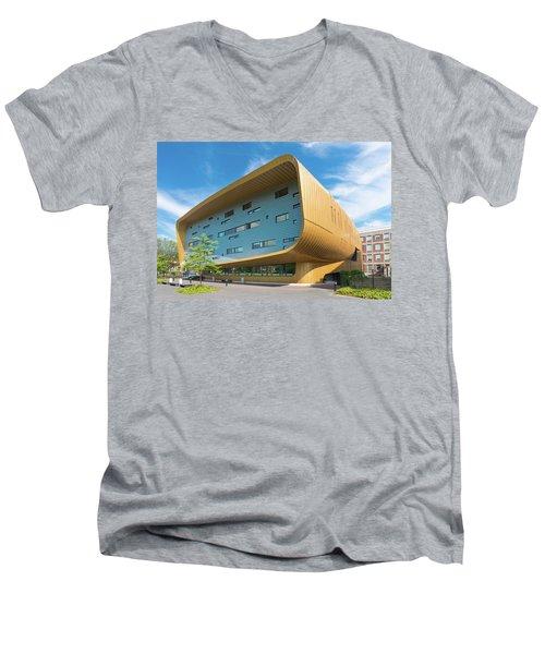 Modern Building Men's V-Neck T-Shirt by Hans Engbers