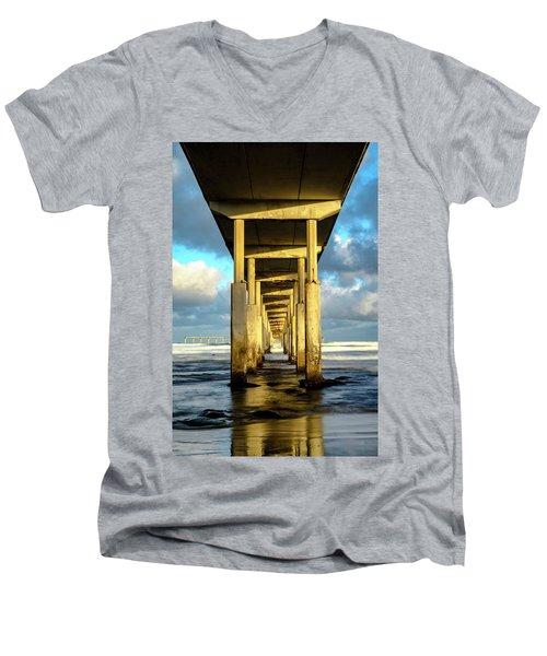 Morning Reflections Men's V-Neck T-Shirt by Joseph S Giacalone