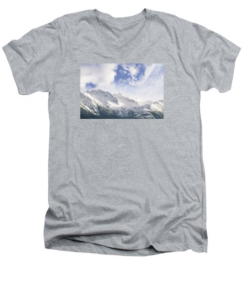 Mountains And Clouds Men's V-Neck T-Shirt by Michele Cornelius