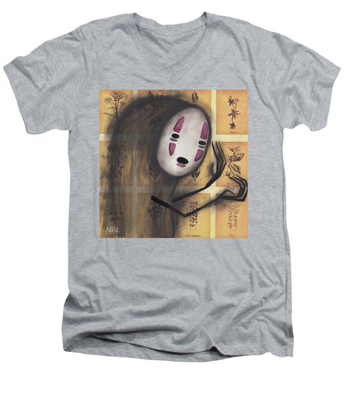 No Face Men's V-Neck T-Shirt by Abril Andrade Griffith