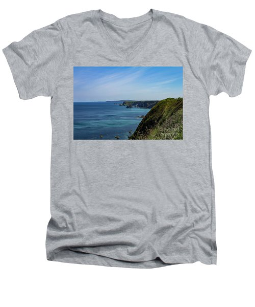 Men's V-Neck T-Shirt featuring the photograph North Coast Cornwall by Brian Roscorla