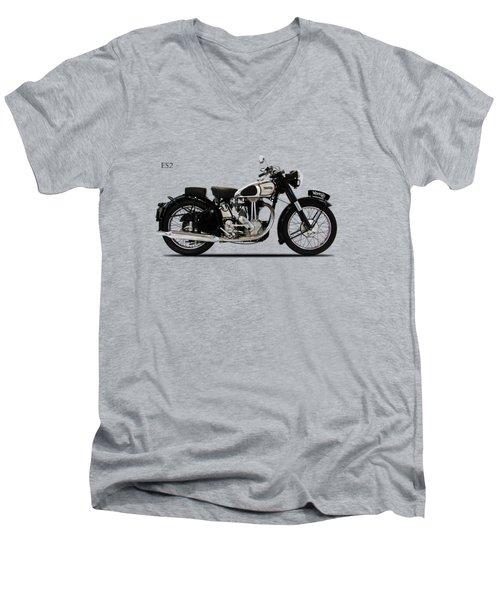 Norton Es2 1947 Men's V-Neck T-Shirt