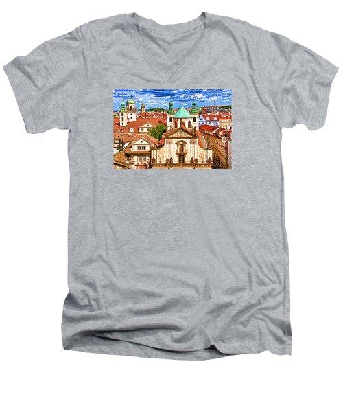 Old Town Prague Men's V-Neck T-Shirt