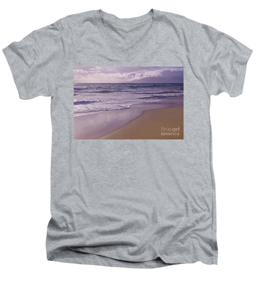 Paradise Men's V-Neck T-Shirt by Sharon Mau
