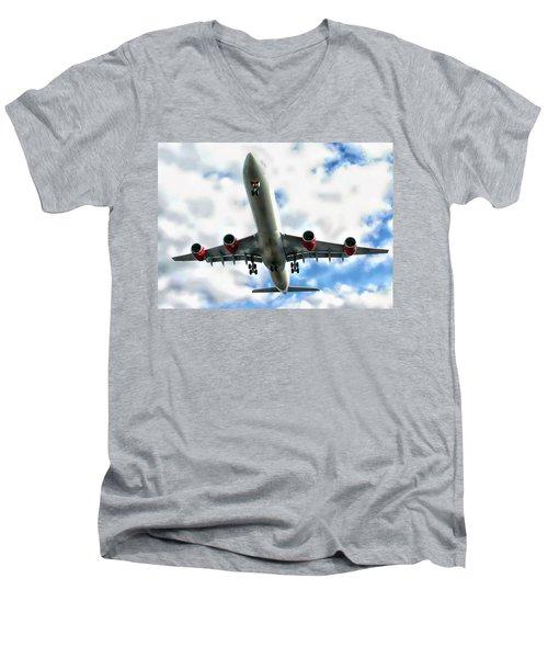 Passenger Plane Men's V-Neck T-Shirt