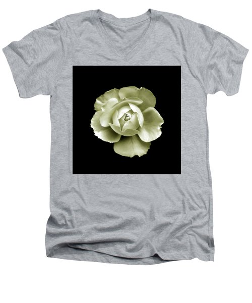Men's V-Neck T-Shirt featuring the photograph Peony by Charles Harden