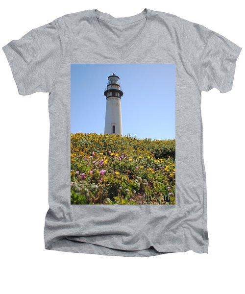 Pigeon Point Lighthouse Men's V-Neck T-Shirt