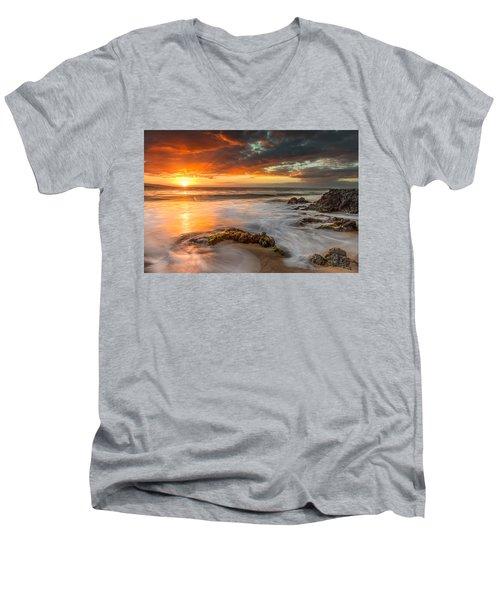 Poolenalena Sunset Men's V-Neck T-Shirt by James Roemmling