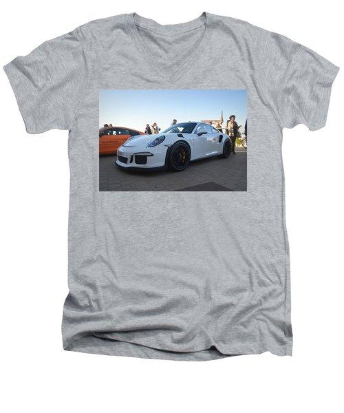 Porsche 911 Gt3rs Men's V-Neck T-Shirt