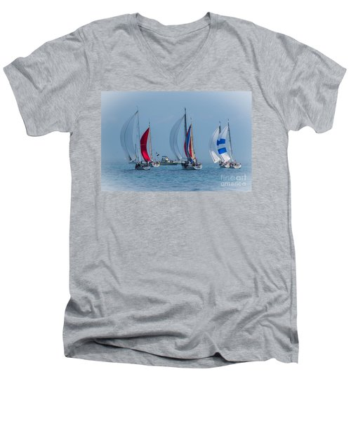 Port Huron To Mackinac Race 2015 Men's V-Neck T-Shirt