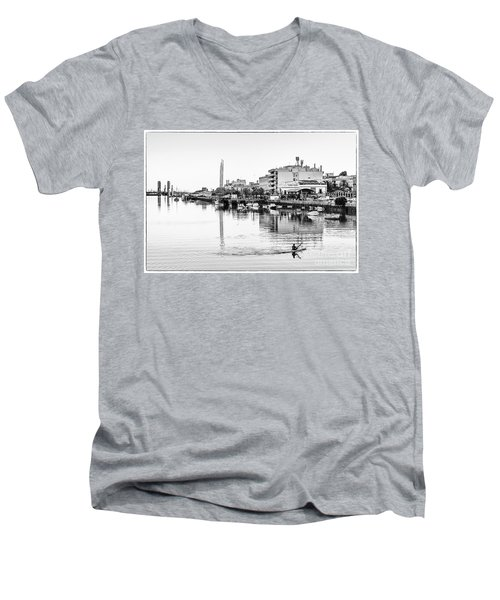 Men's V-Neck T-Shirt featuring the photograph Puerto De Santa Maria Cadiz Spain by Pablo Avanzini