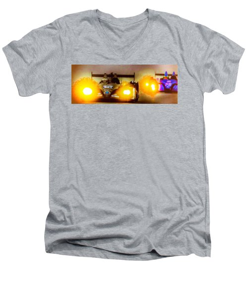 Men's V-Neck T-Shirt featuring the photograph Masters Of Speed by Michael Nowotny