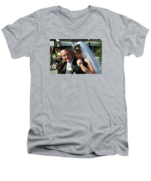 Rebecca And David Men's V-Neck T-Shirt by Michael Dorn