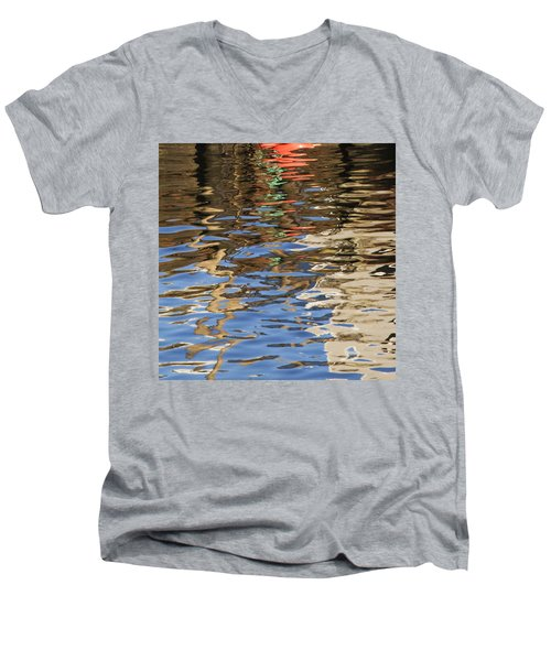 Reflections Men's V-Neck T-Shirt by Charles Harden