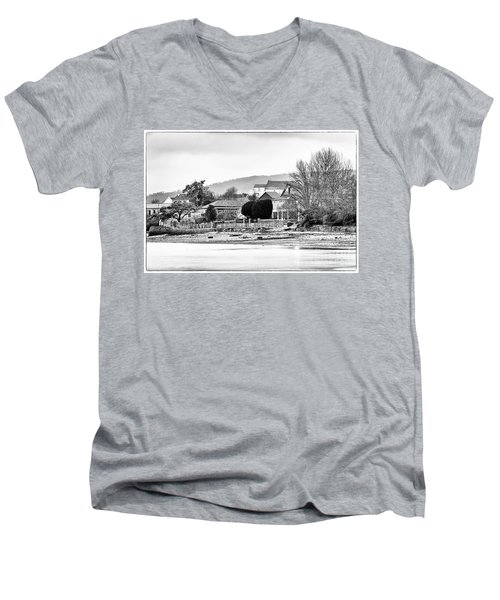 Men's V-Neck T-Shirt featuring the photograph Ribera Maninos Fene Galicia Spain by Pablo Avanzini