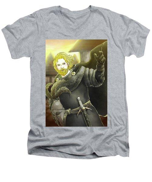 Robin Hood Baron Fitzwalter Men's V-Neck T-Shirt by Reynold Jay