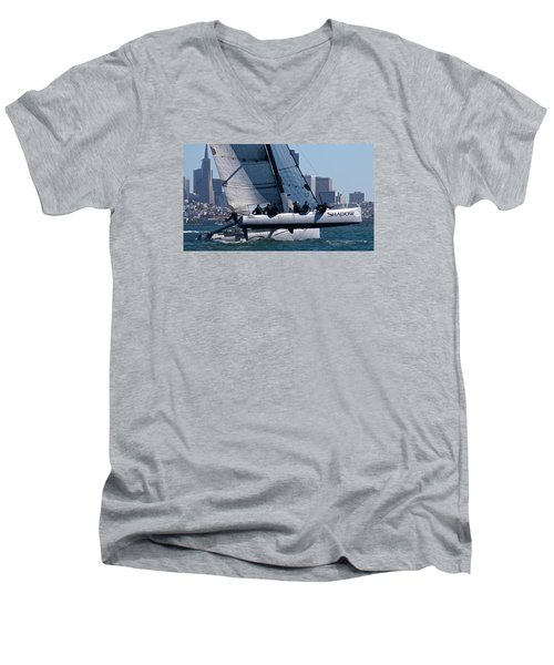 Rolex Big Boat Series Start Men's V-Neck T-Shirt