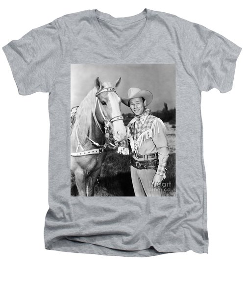 Roy Rogers Men's V-Neck T-Shirt by Granger