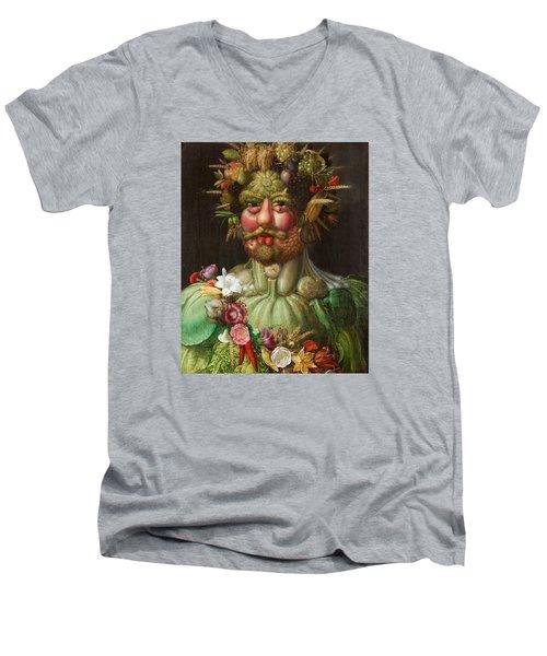 Rudolf II Of Habsburg As Vertumnus Men's V-Neck T-Shirt