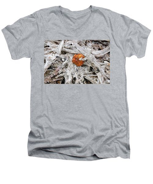 Men's V-Neck T-Shirt featuring the photograph Seattle Morning by David Lee Thompson