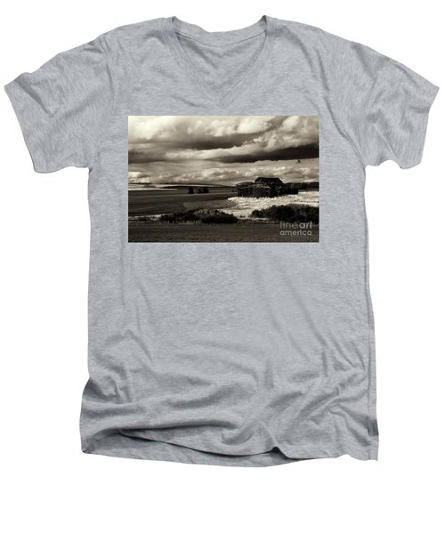 Men's V-Neck T-Shirt featuring the photograph Seen Better Days by Mike Dawson