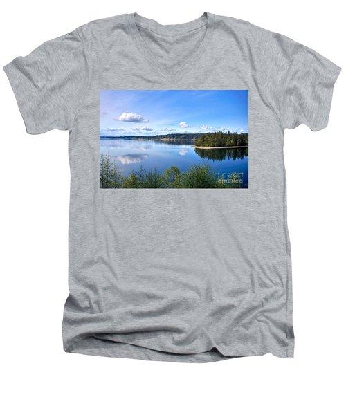 Serenity Men's V-Neck T-Shirt by Sean Griffin