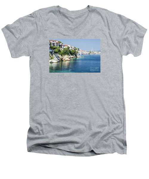 Skiathos Island, Greece Men's V-Neck T-Shirt