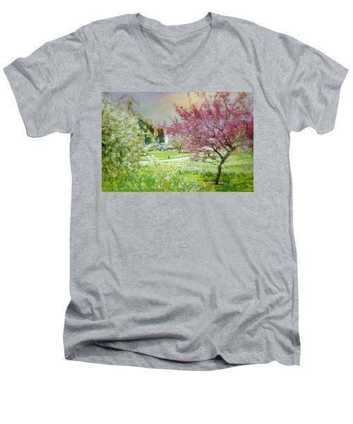 Men's V-Neck T-Shirt featuring the photograph Solitude by Diana Angstadt