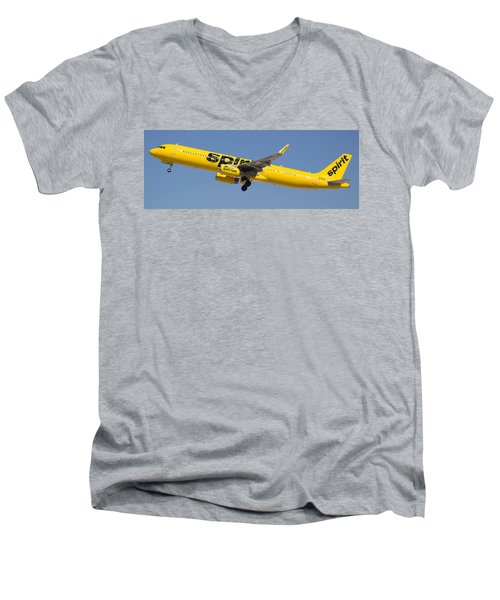 Spirit Airline Men's V-Neck T-Shirt