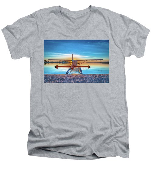 Splash-in Sunrise Men's V-Neck T-Shirt