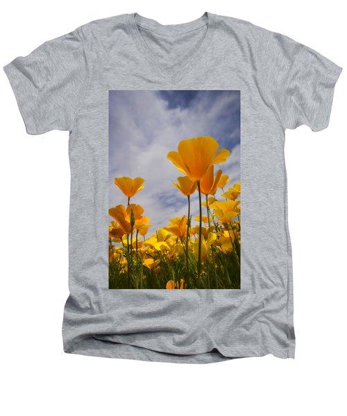 Springtime Poppies  Men's V-Neck T-Shirt