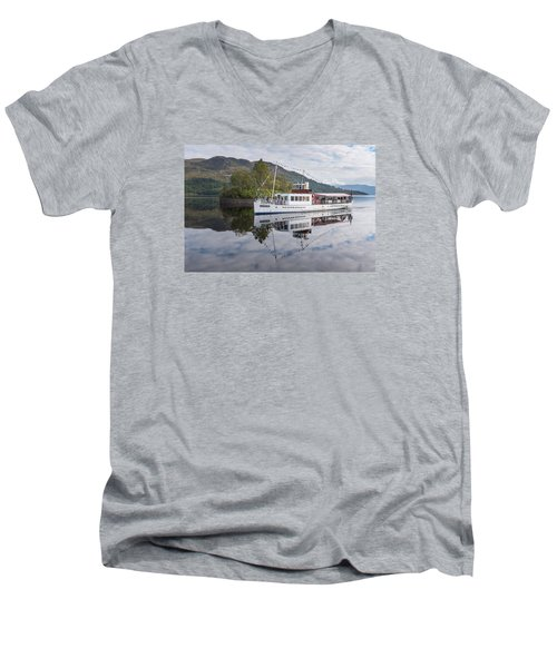 Steamship Sir Walter Scott On Loch Katrine Men's V-Neck T-Shirt