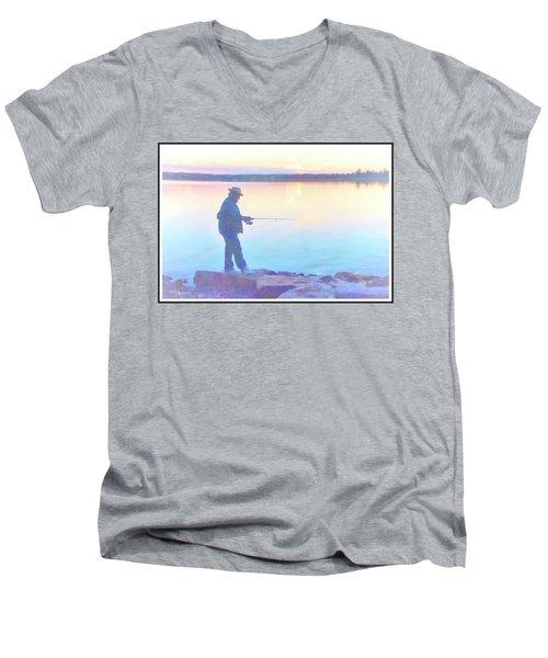 Sunrise Fisherman Men's V-Neck T-Shirt
