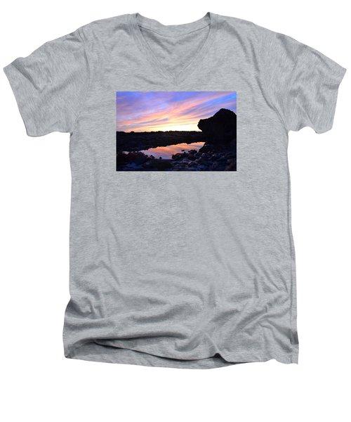 Sunset Men's V-Neck T-Shirt by Alex King