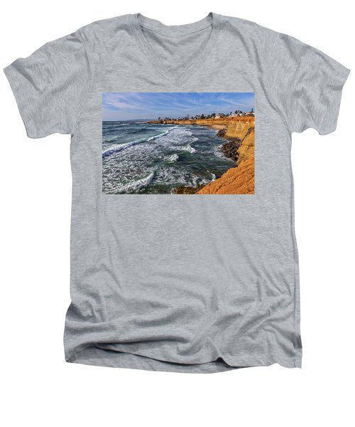 Sunset Cliffs 2 Men's V-Neck T-Shirt