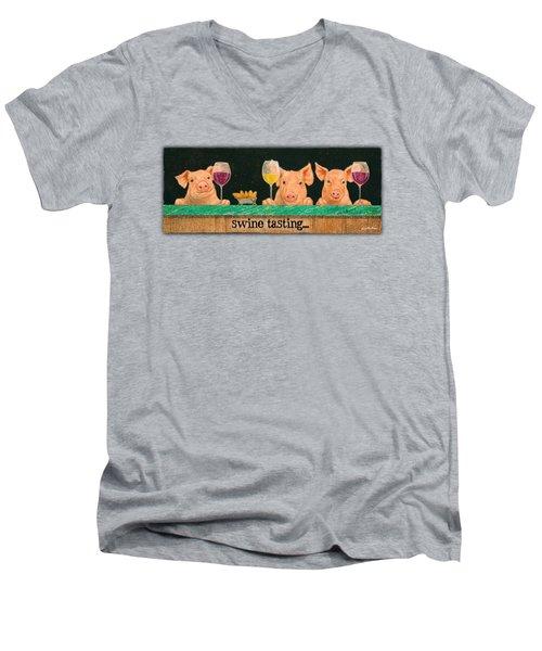 Swine Tasting... Men's V-Neck T-Shirt