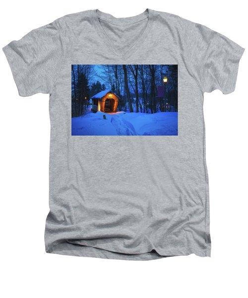 Tannery Hill Bridge Men's V-Neck T-Shirt