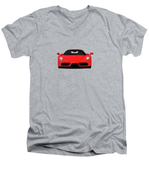 The Ferrari Enzo Men's V-Neck T-Shirt by Mark Rogan