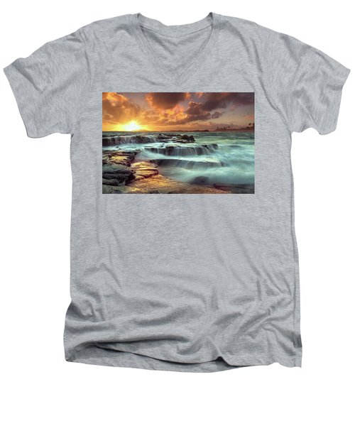 The Golden Hour Men's V-Neck T-Shirt by James Roemmling