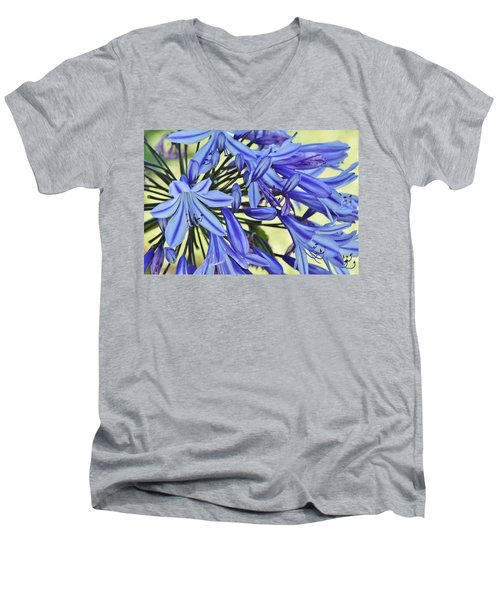 the lily of the Nile... Men's V-Neck T-Shirt by Werner Lehmann