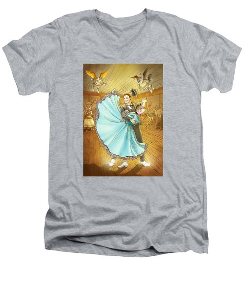 The Magic Dancing Shoes Men's V-Neck T-Shirt