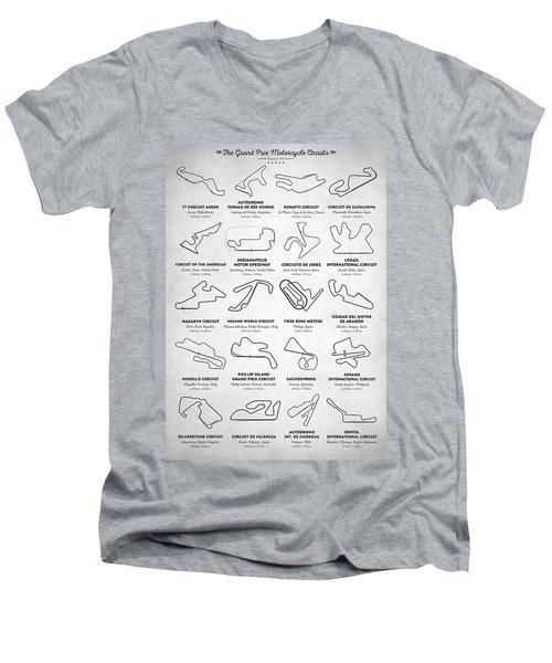 The Motogp Circuits Men's V-Neck T-Shirt