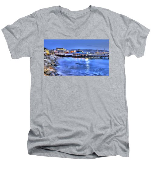 Redondo Landing At Night Men's V-Neck T-Shirt