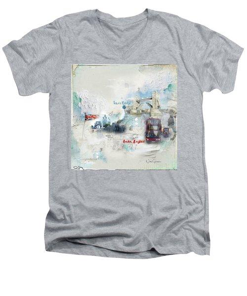 Tower Bridge Men's V-Neck T-Shirt
