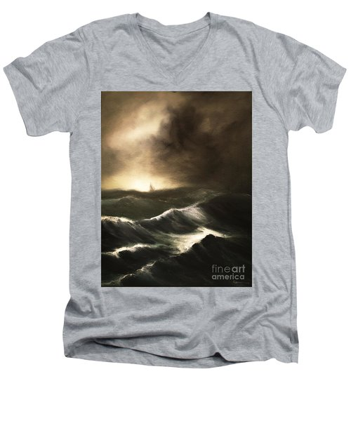 Untitled Men's V-Neck T-Shirt by Stephen Roberson