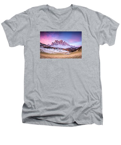 Val Di Funes, Italy Men's V-Neck T-Shirt