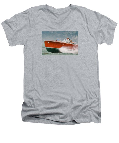 Vintage Riva Men's V-Neck T-Shirt